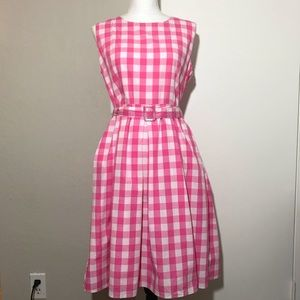 Lindy Bop Colette Pink Gingham Dress